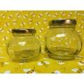 12oz Multi-Faceted Glass Jar